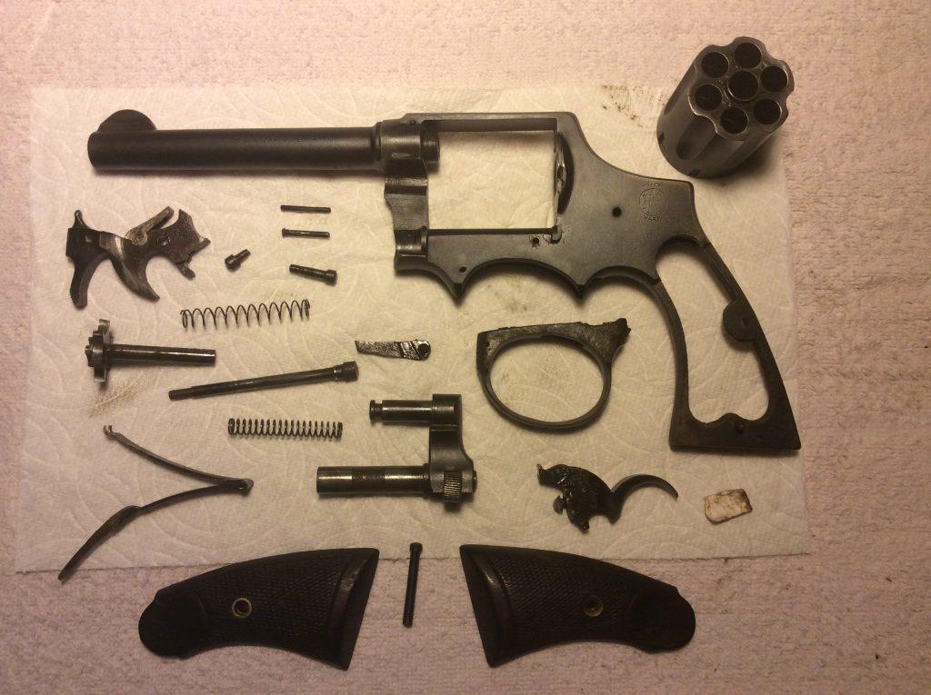 unassembled gun